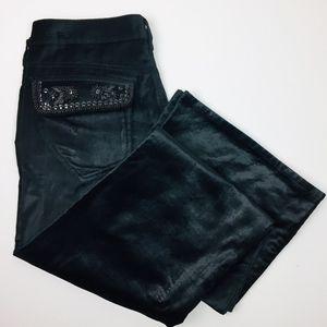 BCBGirls Embellished Velvet Boot Cut Pants